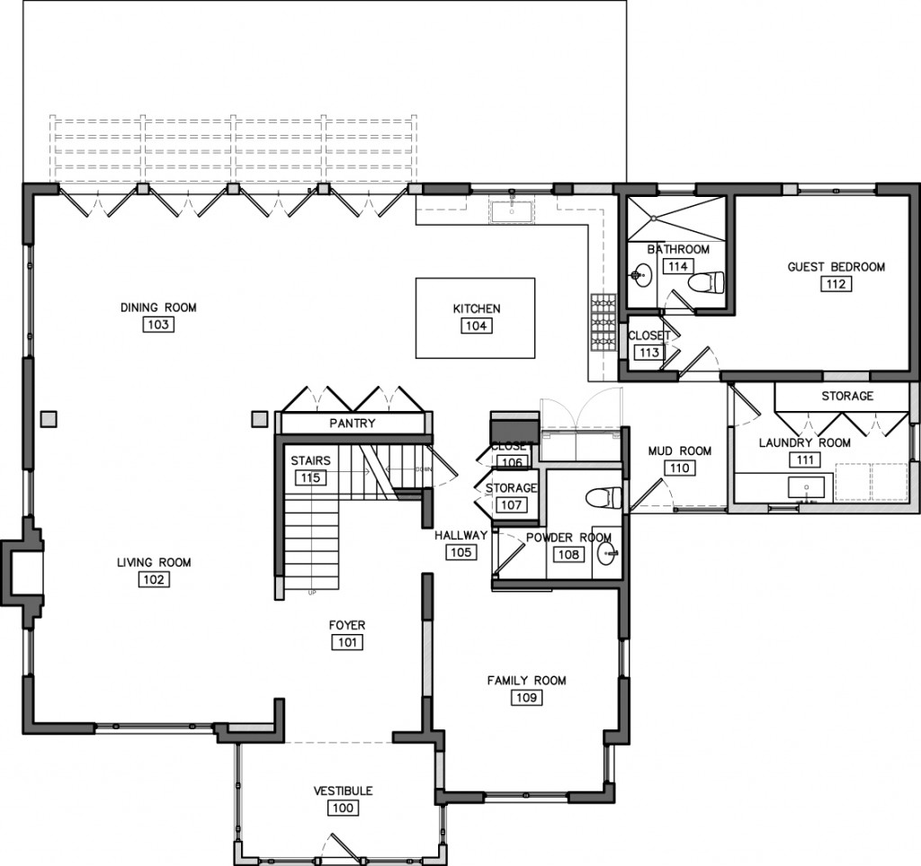 1st FLOOR Proposed floor plan #1