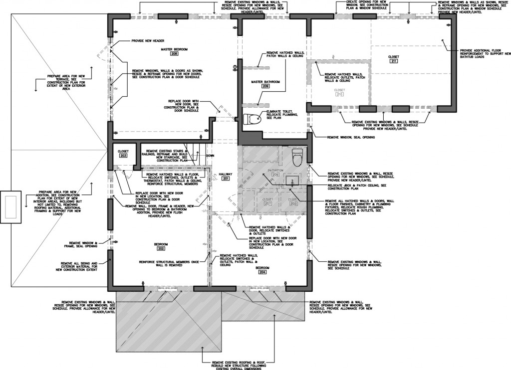 2nd FLOOR Demolition Plan