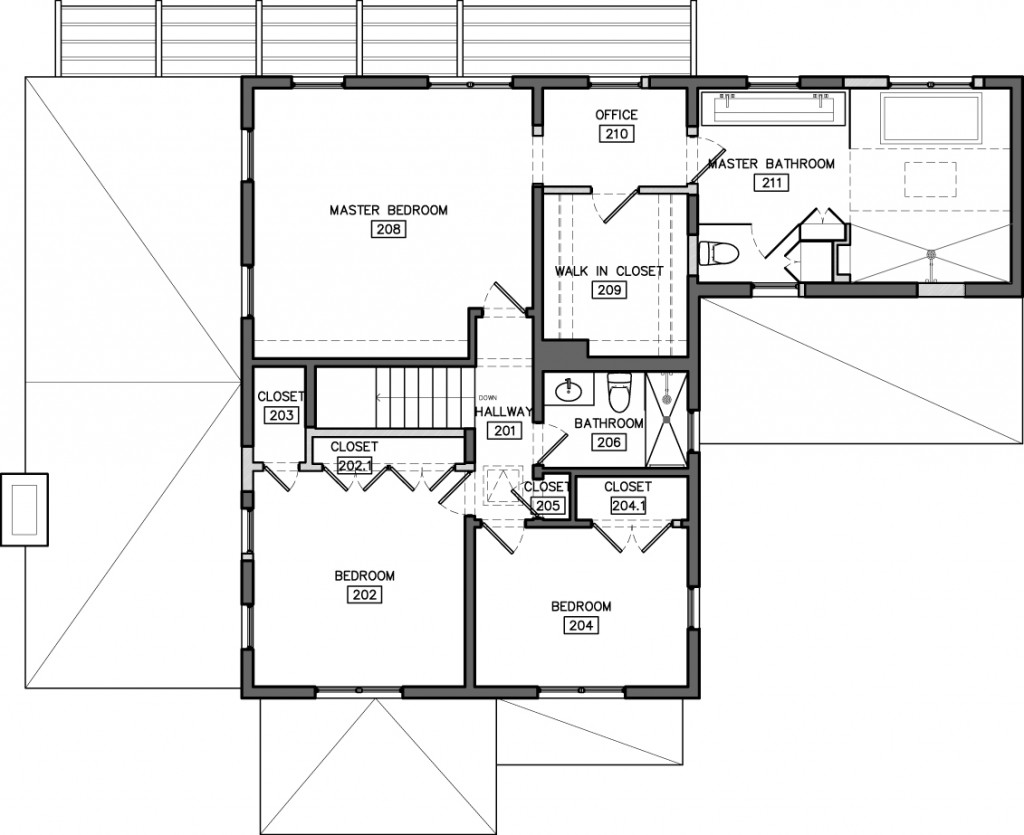 2nd FLOOR Proposed floor plan #1
